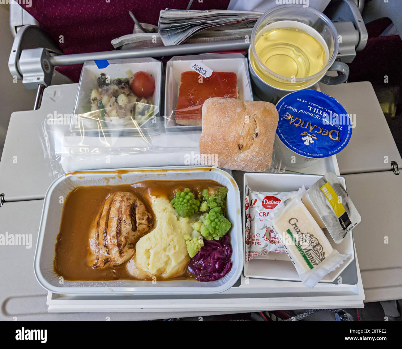 Airline food with Malaysian Airlines, Borneo - Stock Image