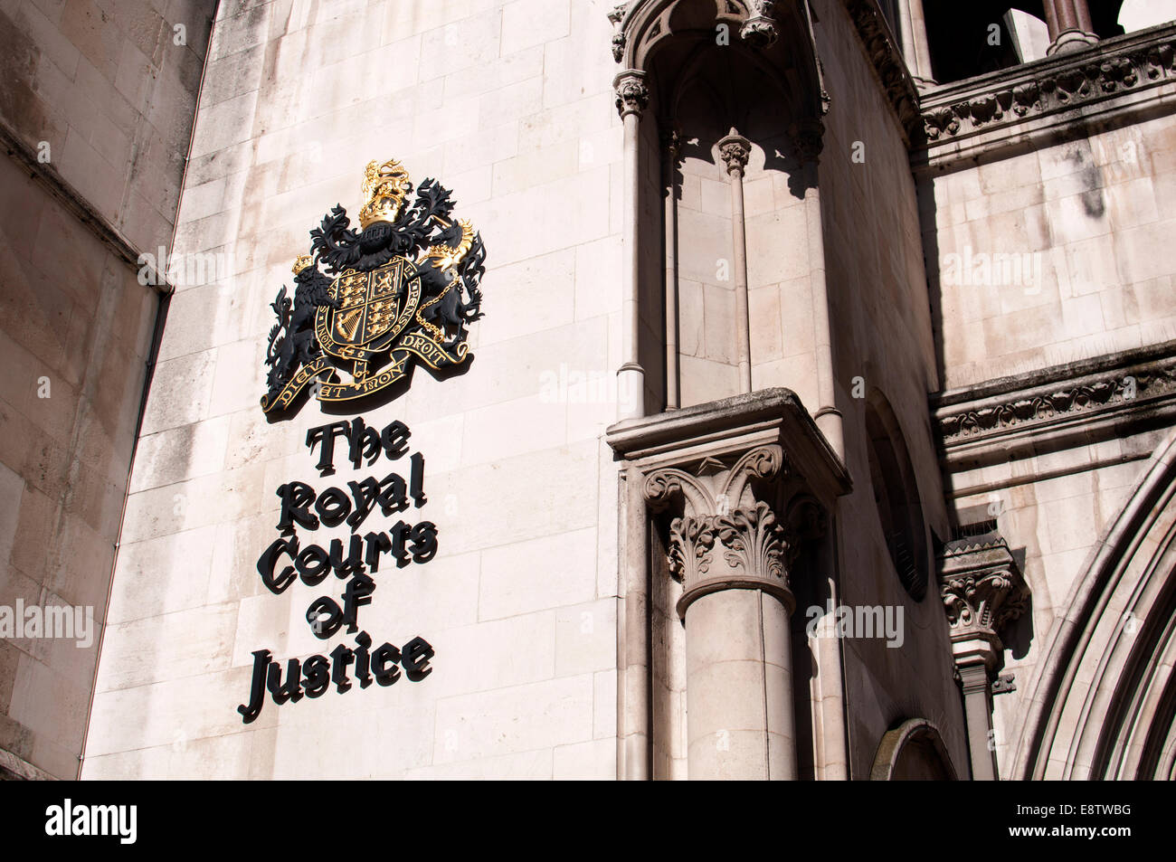 The Royal Courts of Justice, The Strand, London, UK - Stock Image