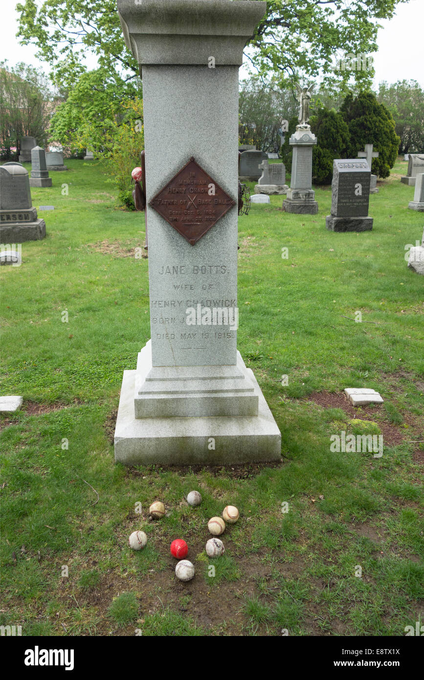 Henry Chadwick grave Green-Wood Cemetery - Stock Image
