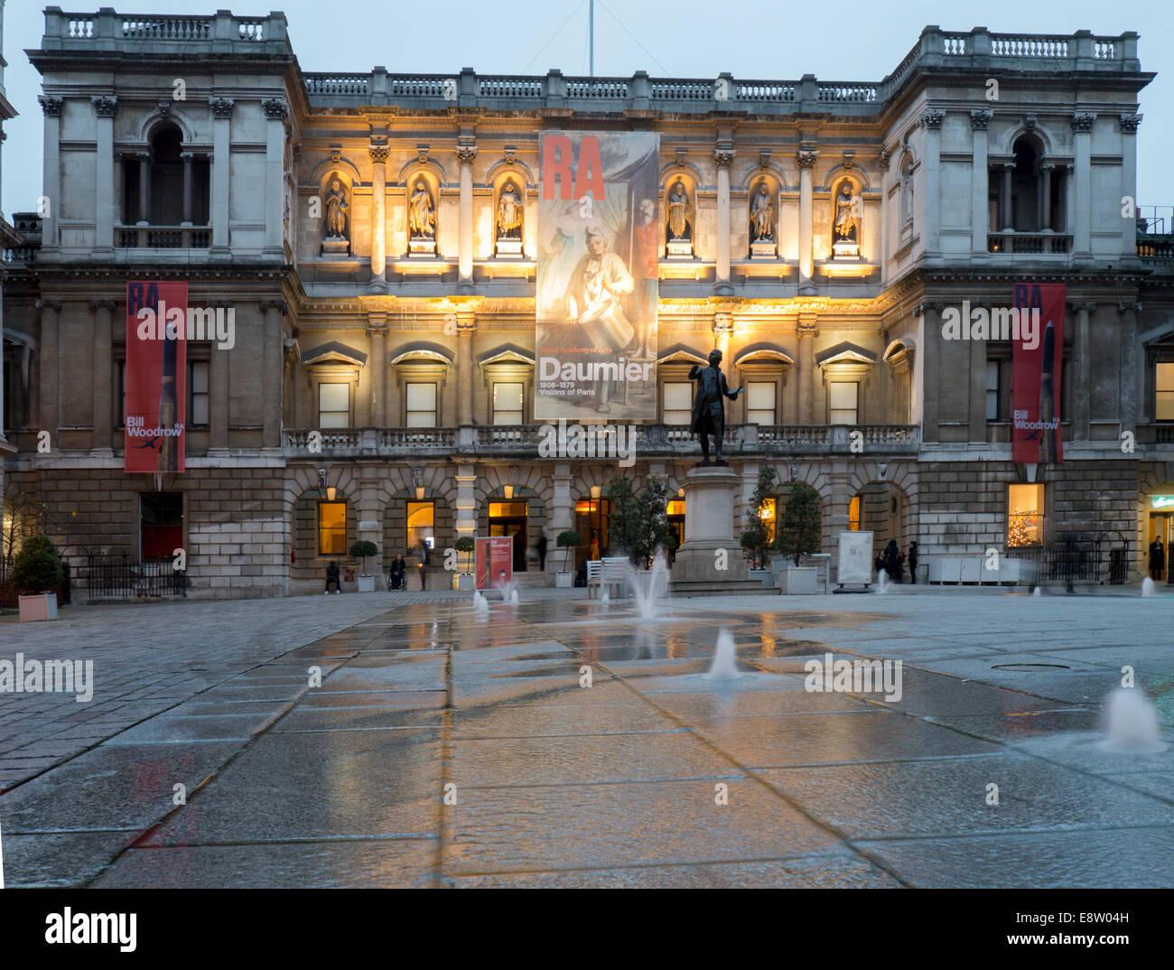 UK, England, London, Piccadilly Royal Academy - Stock Image