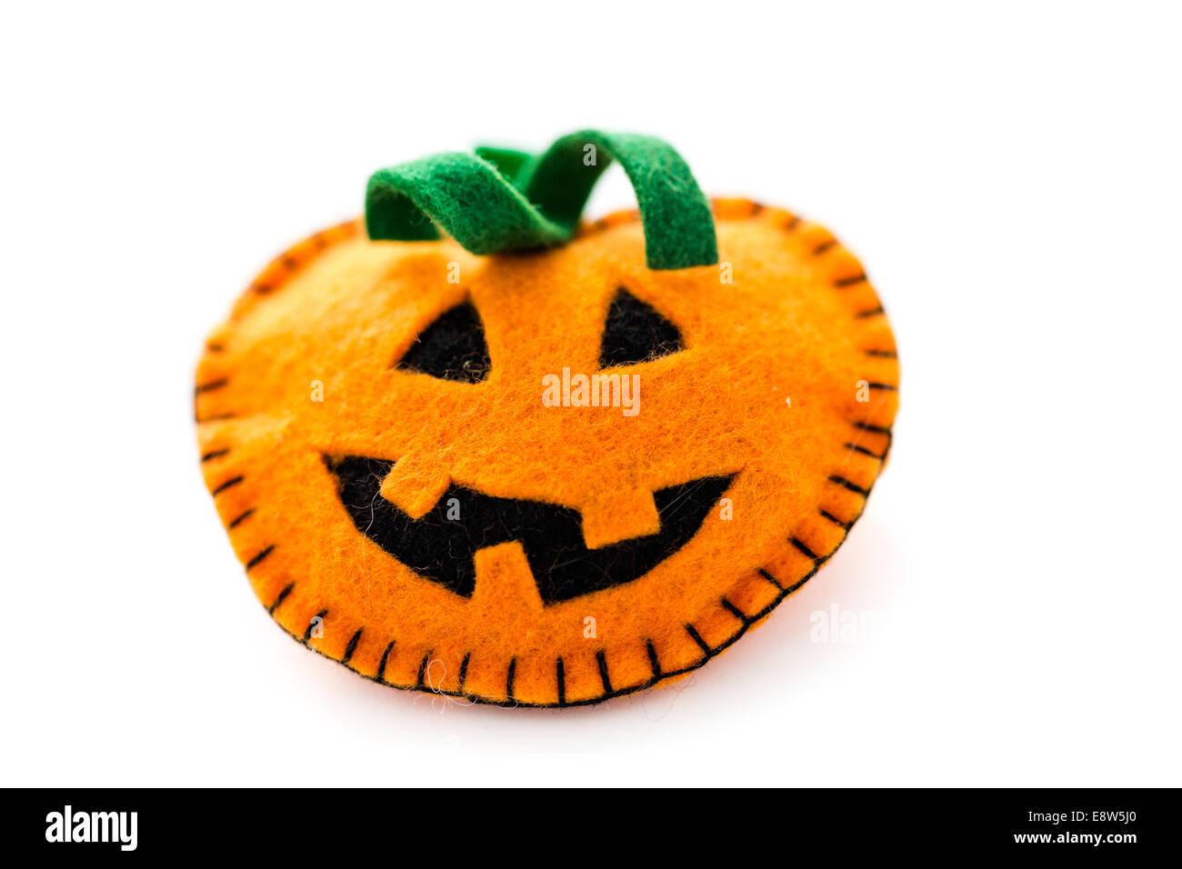 Handmade Halloween Decorations From Fabric Stock Photo ...
