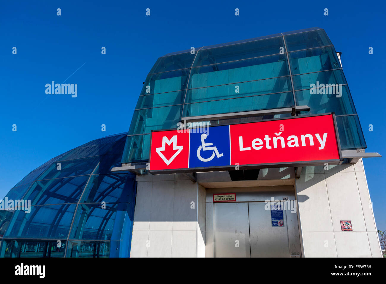 Letnany Metro Station The Last Station Line C Ending In The Fields