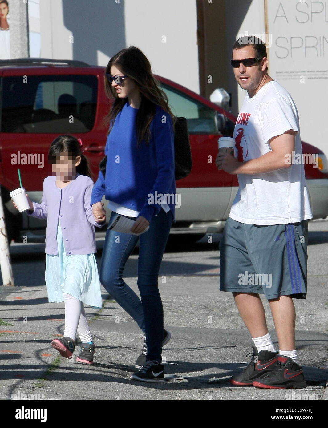 Adam Sandler out with his family in Brentwood Featuring: Adam Stock