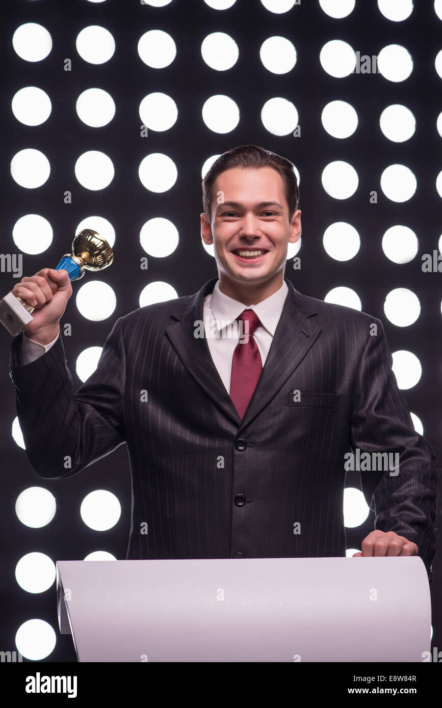 Attractive star TV presenter - Stock Image