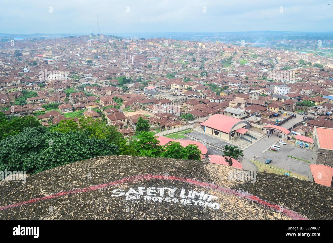 Aerial view of the city of Abeokuta, kogi Nigeria