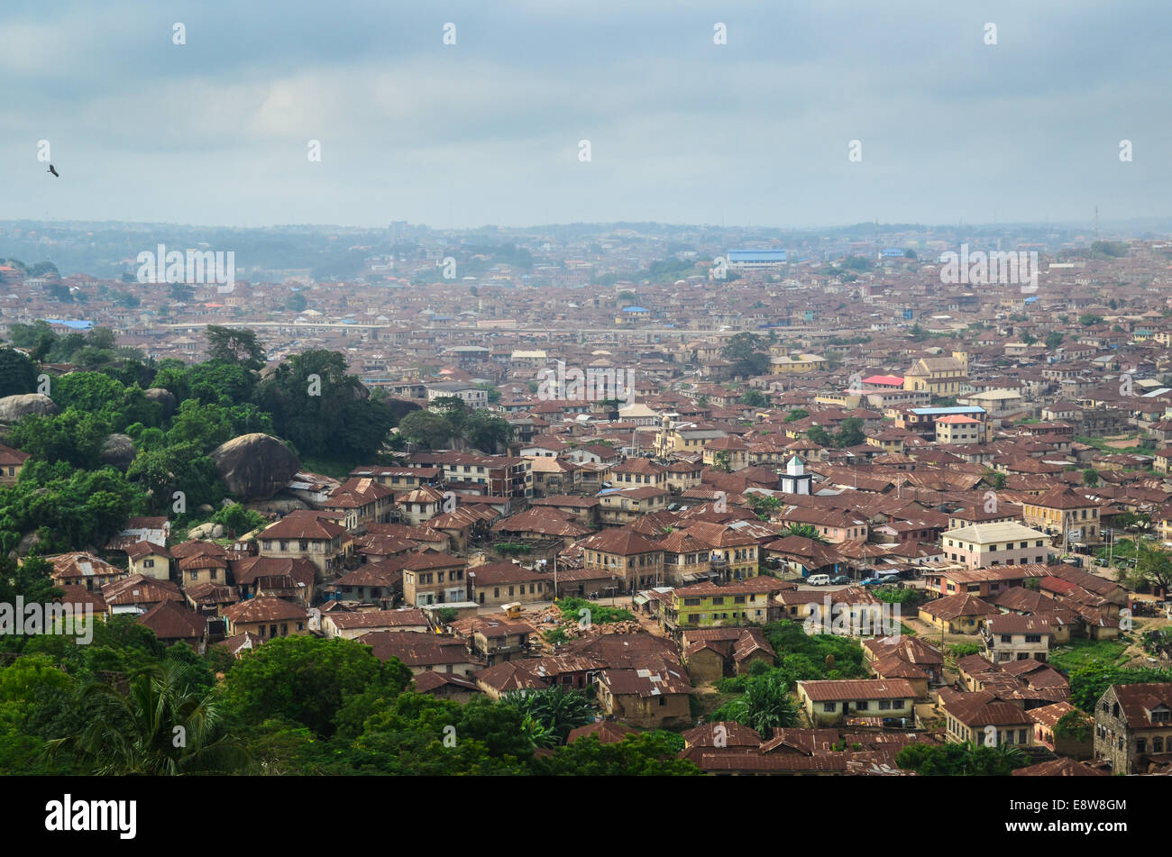 Aerial view of the city of Abeokuta, Ogun state (south