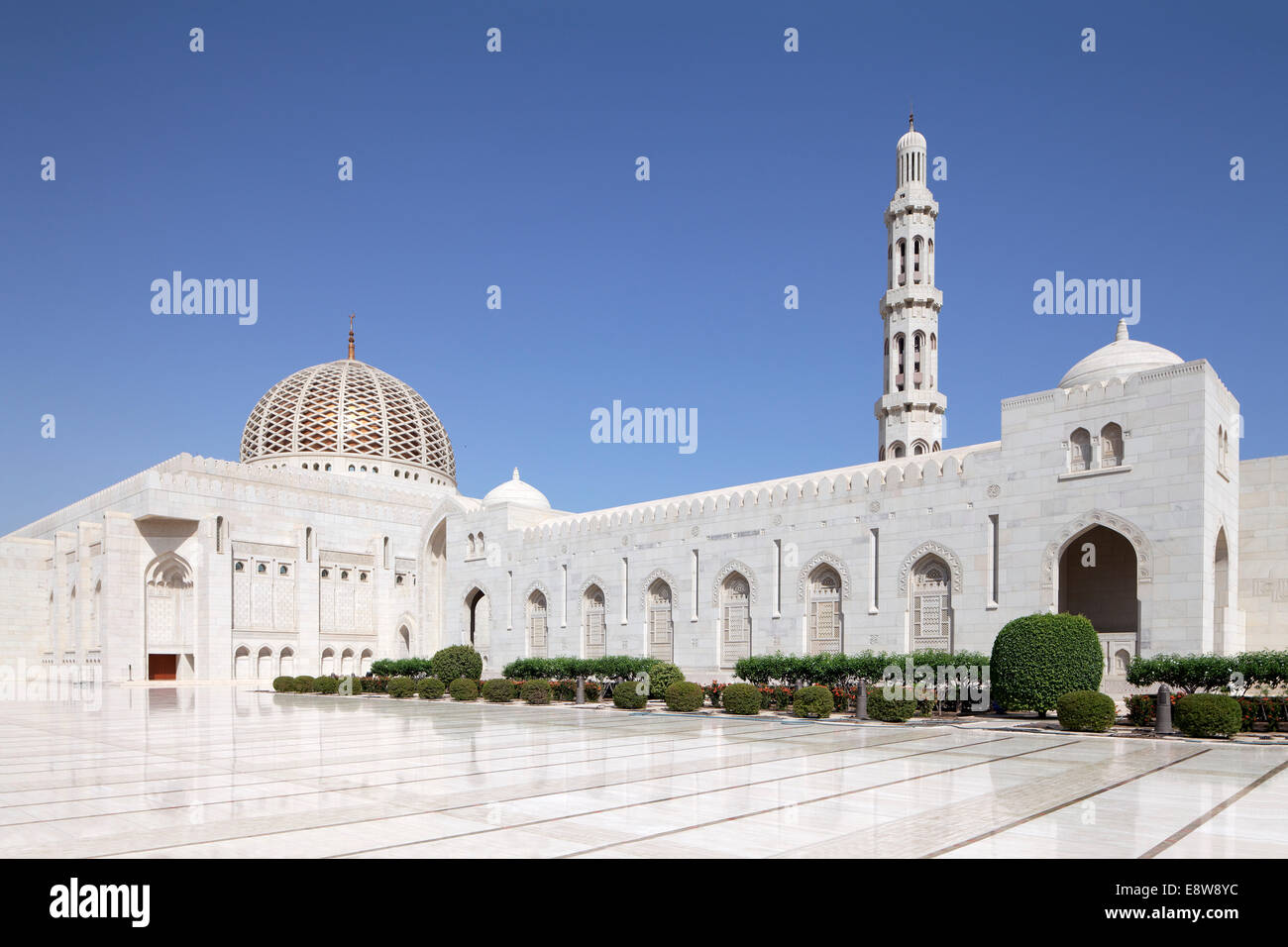 Sultan Qaboos Grand Mosque, Muscat, Oman - Stock Image