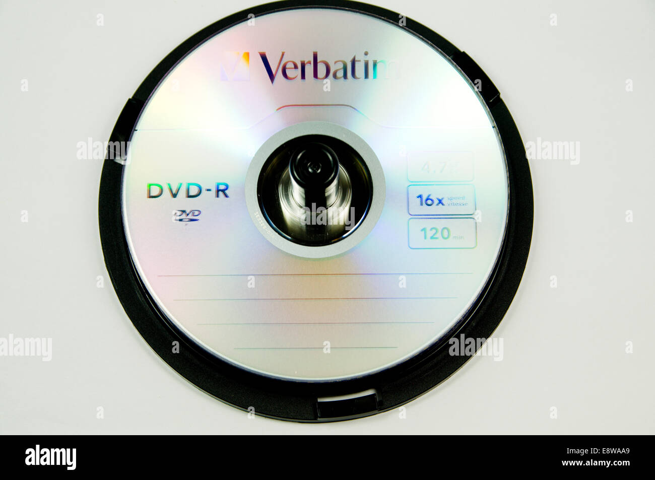 Stack of Blank DVDs - Stock Image
