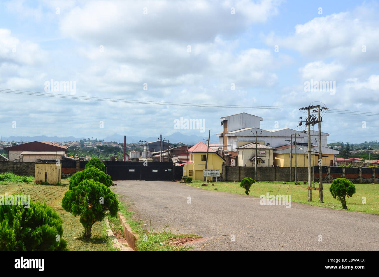 A cocoa factory in Akure, Nigeria - Stock Image