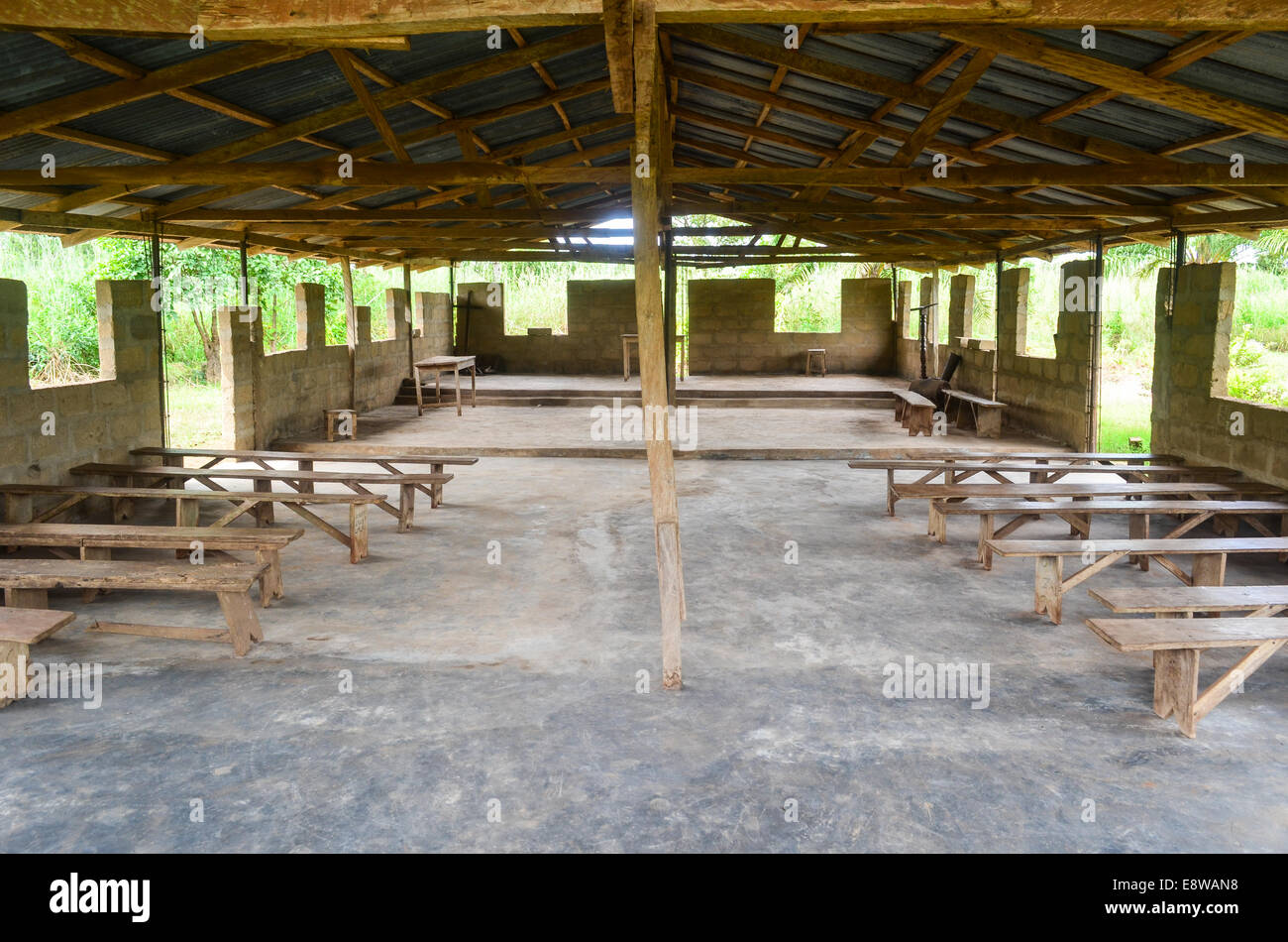 A church in rural Nigeria - Stock Image
