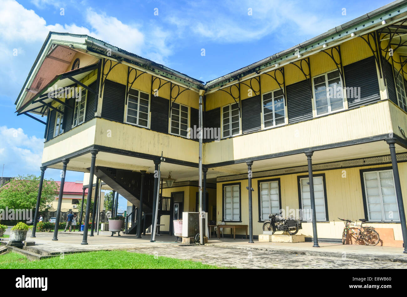 Museum of Calabar, Nigeria, in a former British colonial administrative building - Stock Image