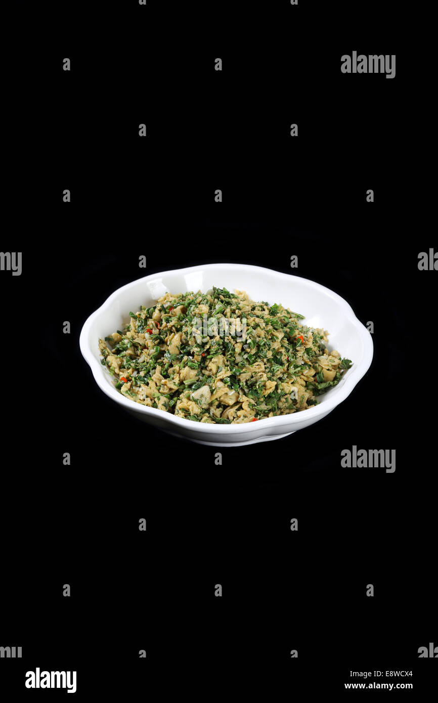 Chinese cuisine Toon scrambled eggs - Stock Image