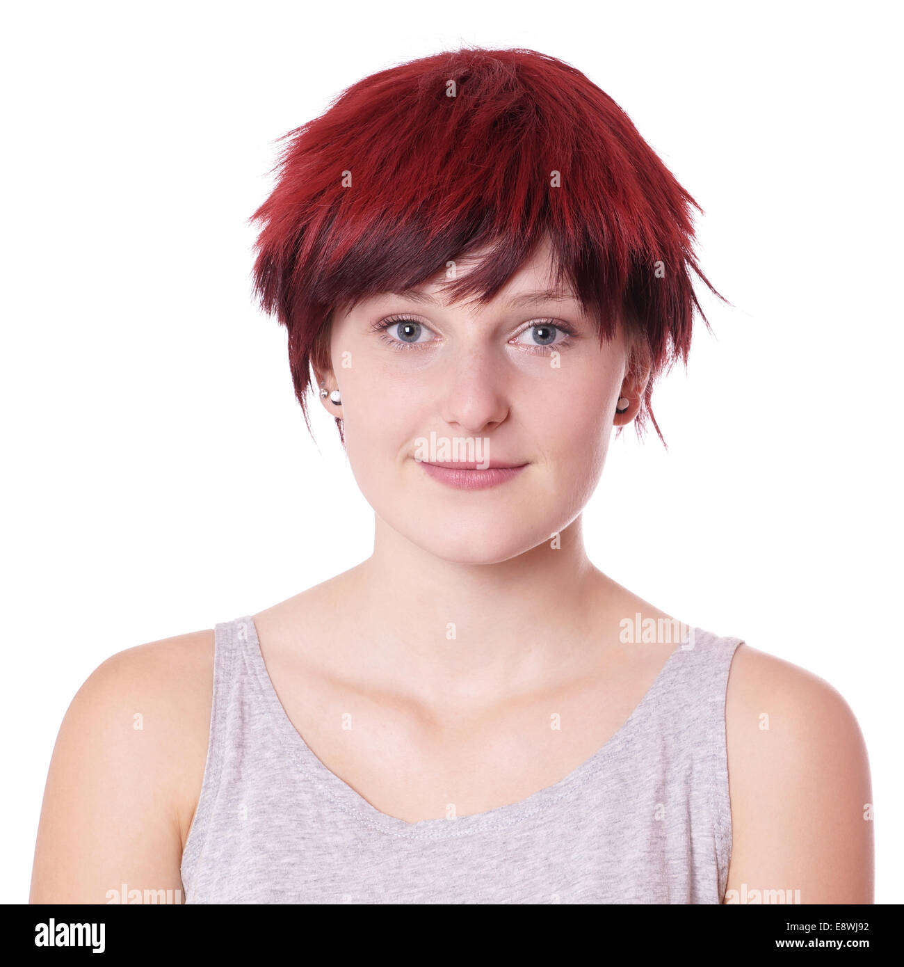 womens short haircut boyish stock photos amp boyish stock images alamy 1591 | young woman with boyish short hair E8WJ92
