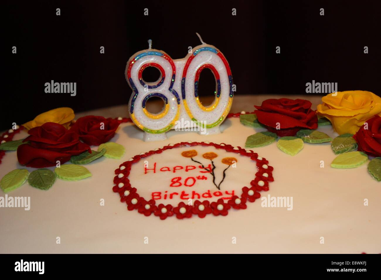 Enjoyable 80Th Birthday Cake Stock Photos 80Th Birthday Cake Stock Images Funny Birthday Cards Online Alyptdamsfinfo