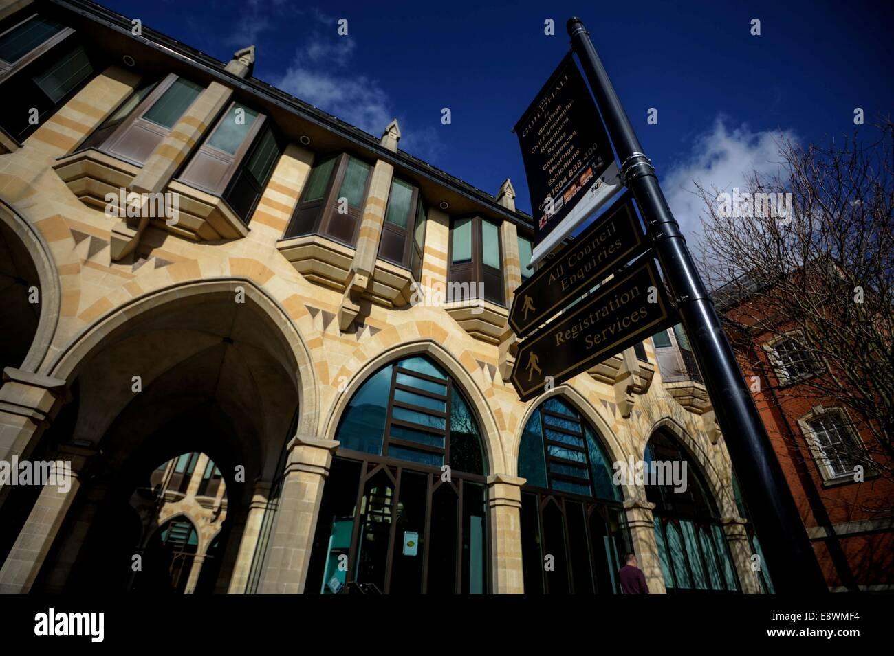 The Guildhall on St Giles Square, Northampton, England - Stock Image