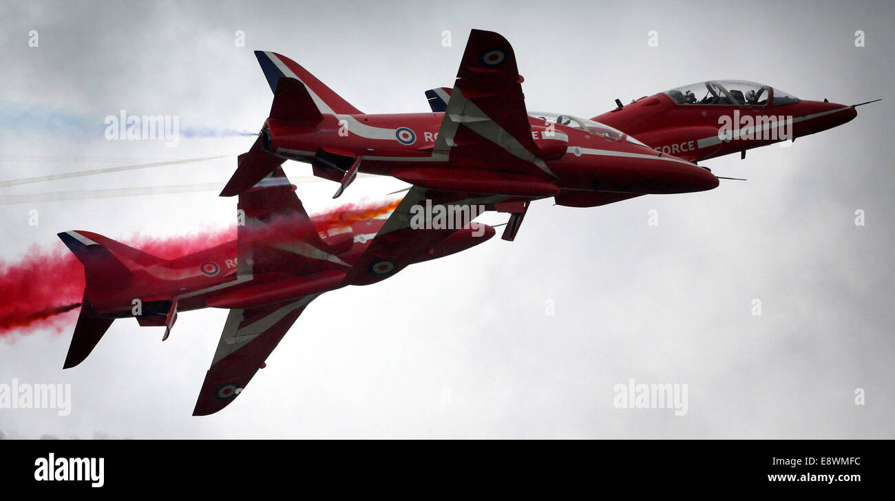 RAF Red Arrows. - Stock Image