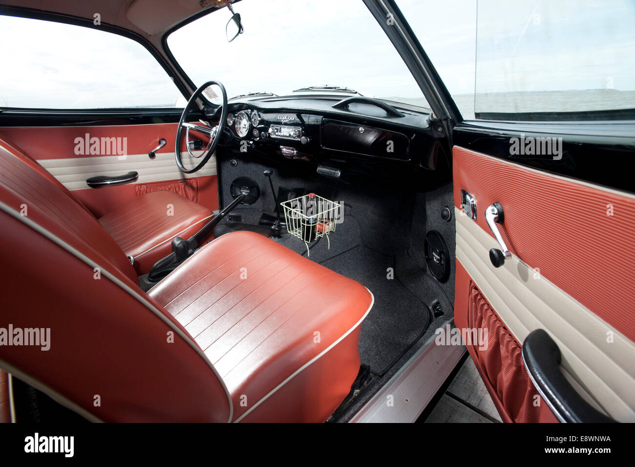 volkswagen karmann ghia type 14 coupe german classic car interior stock photo 74324694 alamy. Black Bedroom Furniture Sets. Home Design Ideas