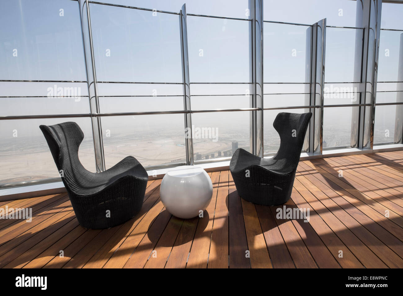 Dubai, United Arab Emirates. 15th October, 2014;  The world's highest public outdoor observation deck opened - Stock Image
