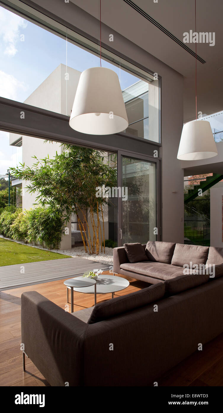 Incredible Pendant Lights Above Sofas In Living Room Of H House Israel Download Free Architecture Designs Lukepmadebymaigaardcom