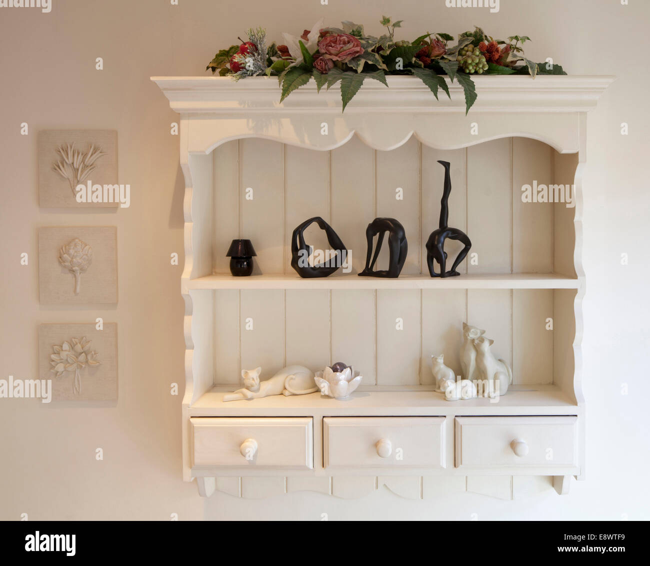 Wall Mounted Shelving Unit In Private House Cheshire Uk