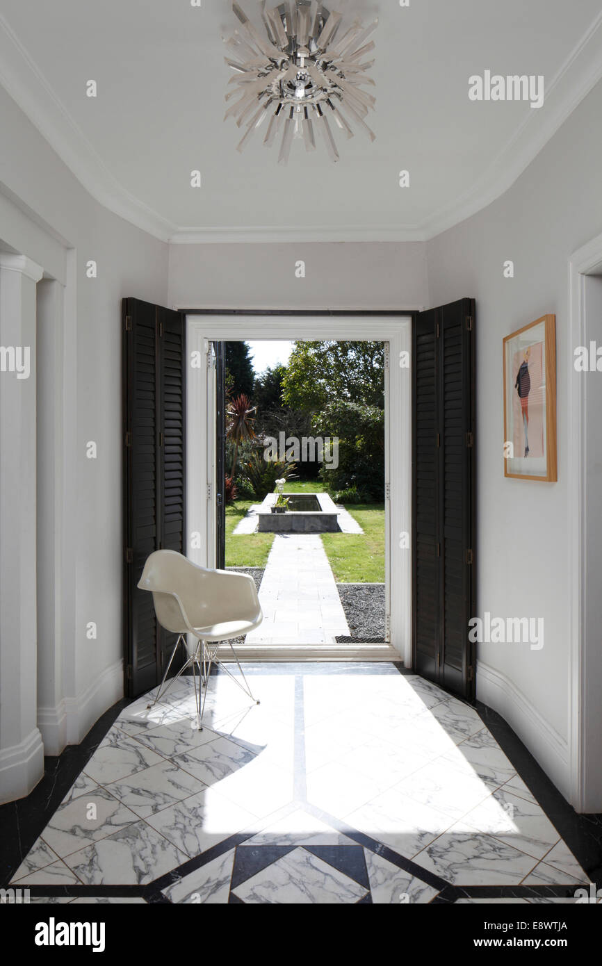 Entrance Hall With View Into Garden, Art Deco Home, Brighton, UK.