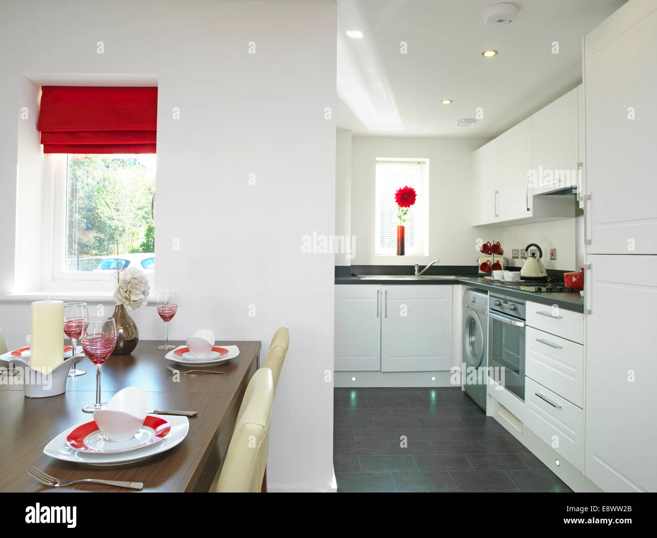 show home dining room | Open plan kitchen and dining room in show home, Kingston ...