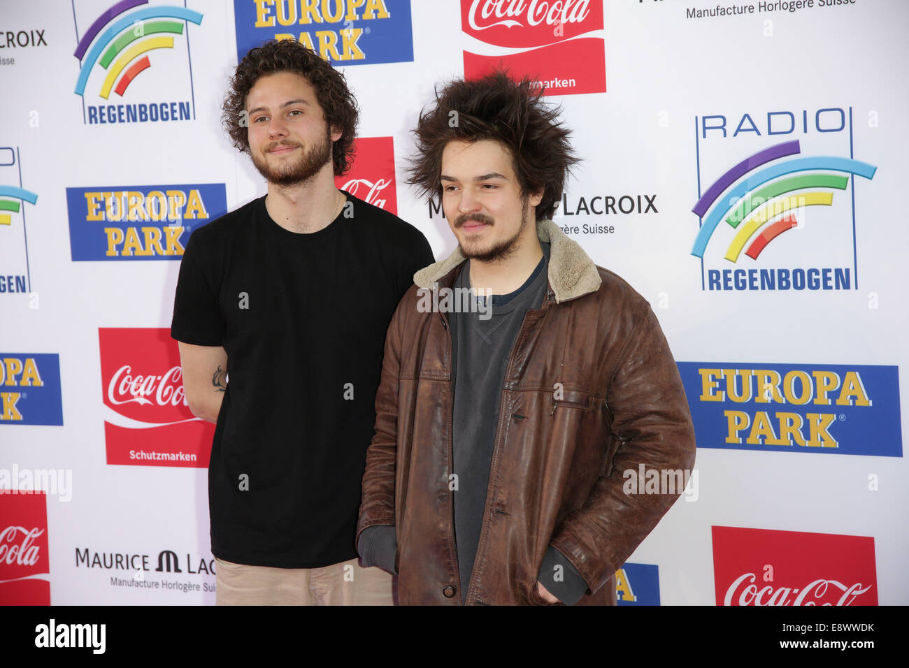 Radio Regenbogen Award 2014 at Europa-Park. - Arrivals  Featuring: Milky Chance Where: Rust, Germany When: 12 Apr - Stock Image
