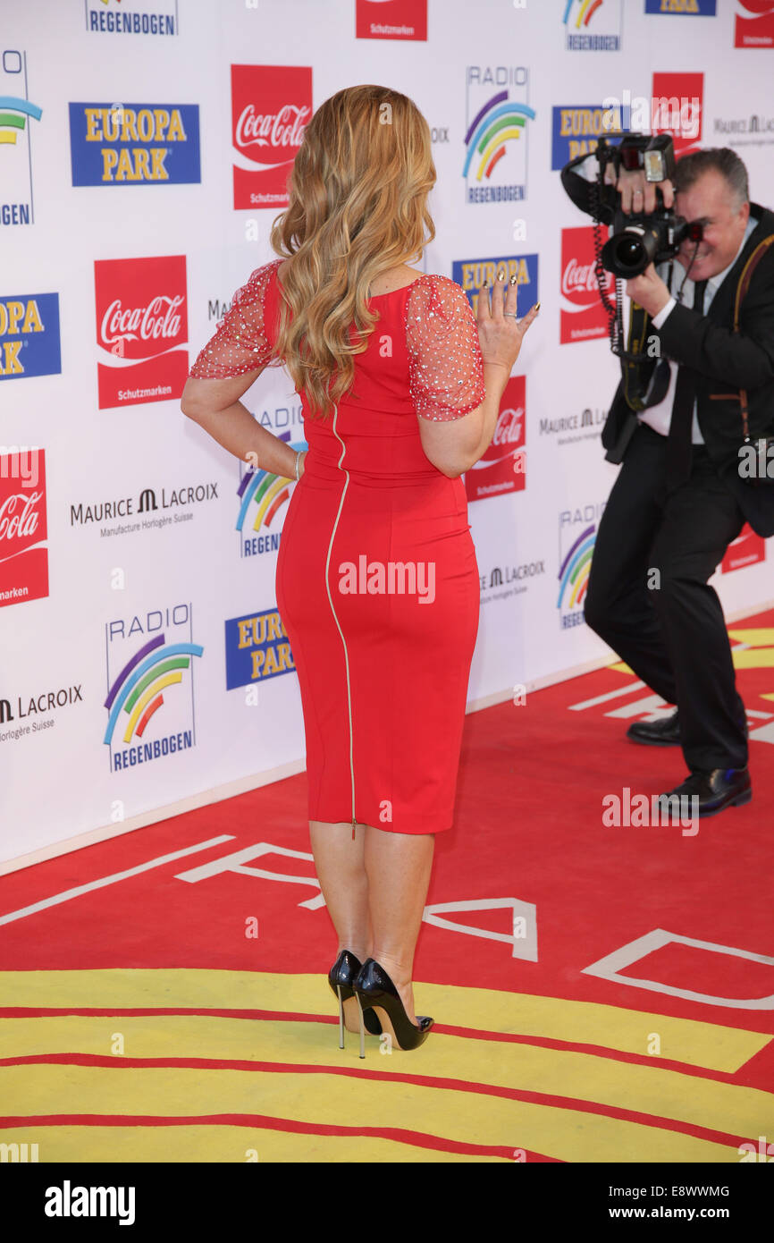 Radio Regenbogen Award 2014 at Europa-Park. - Arrivals  Featuring: Anastacia Where: Rust, Germany When: 12 Apr 2014 - Stock Image
