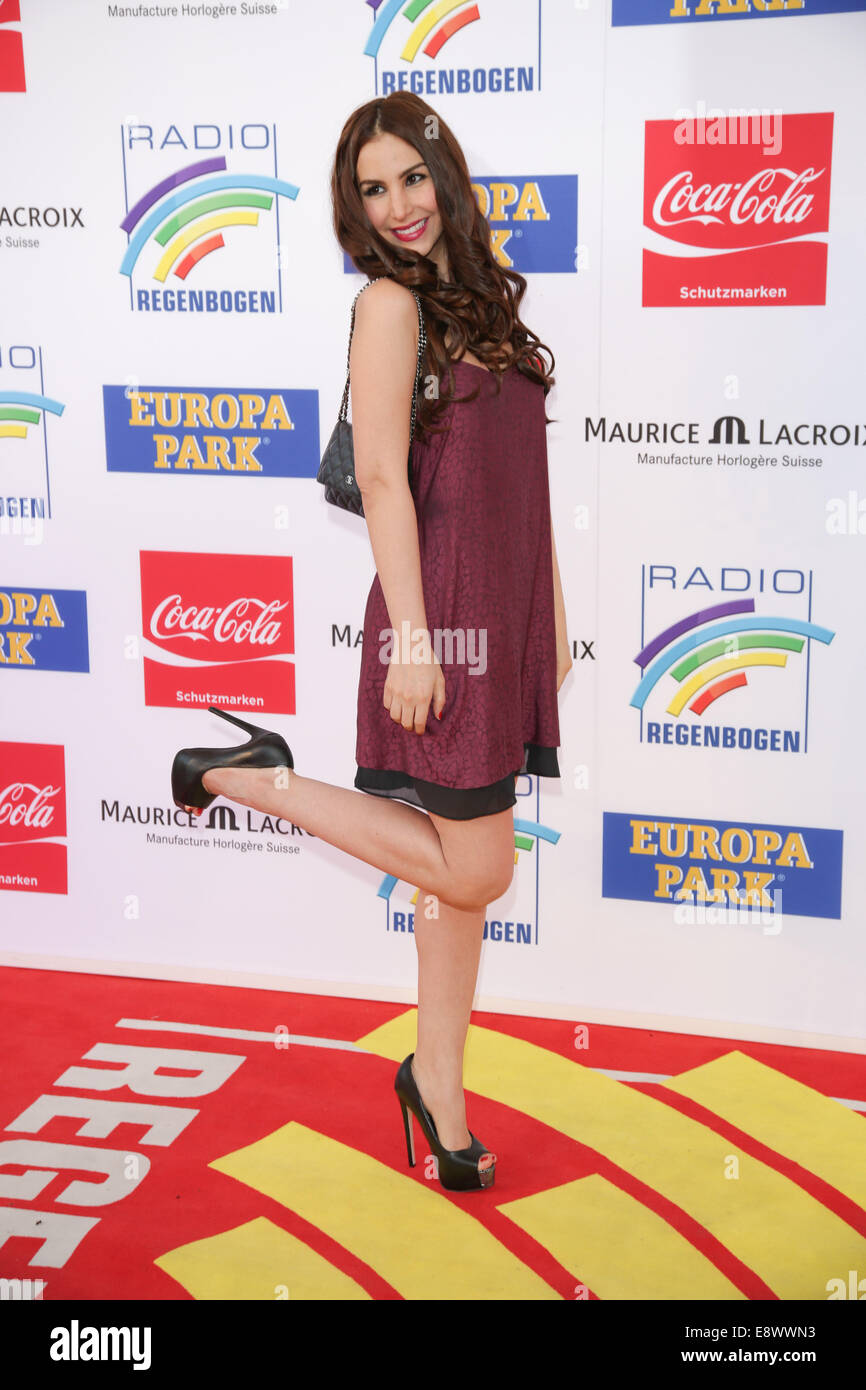 Radio Regenbogen Award 2014 at Europa-Park. - Arrivals  Featuring: Sila Sahin Where: Rust, Germany When: 12 Apr - Stock Image
