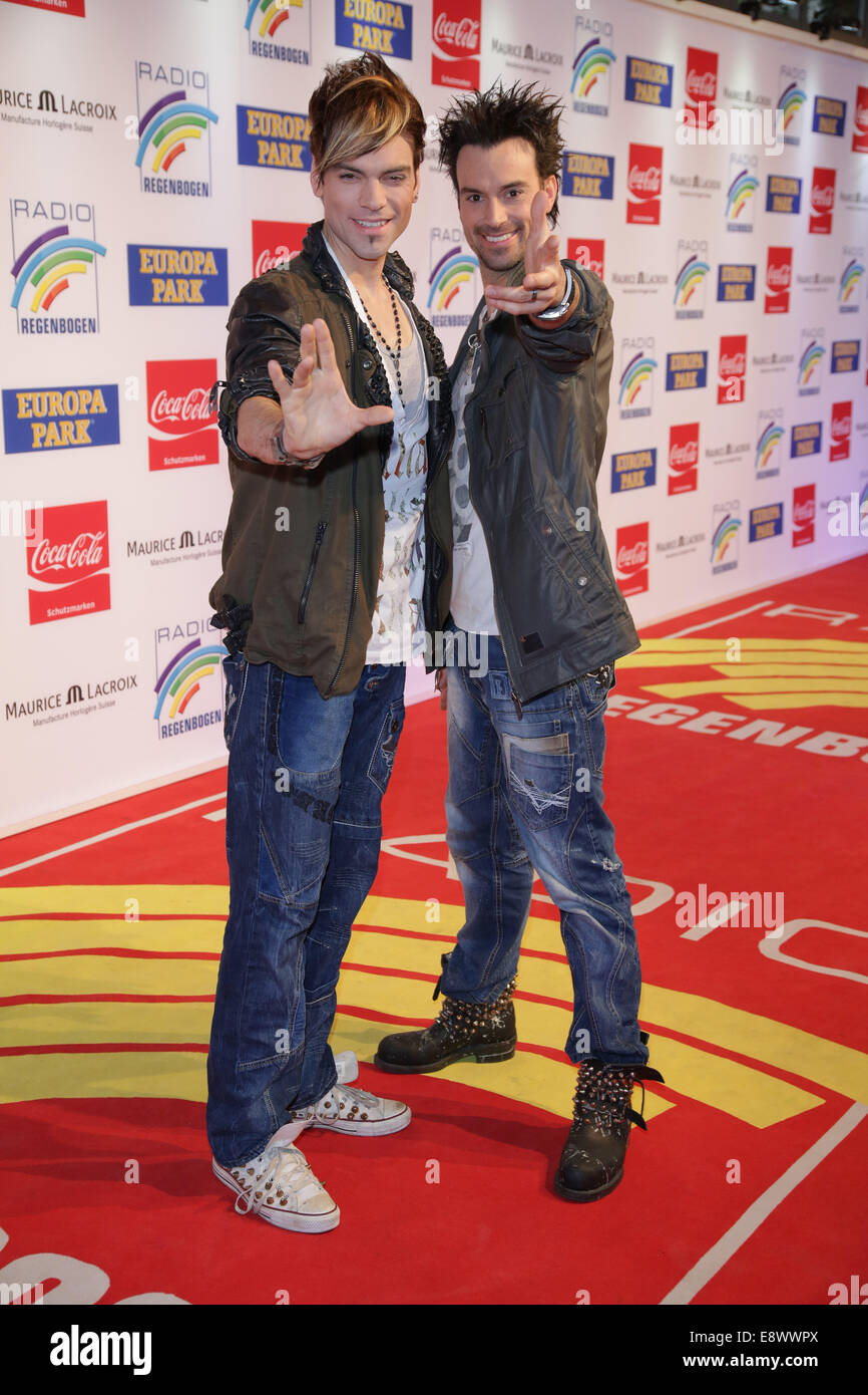 Radio Regenbogen Award 2014 at Europa-Park. - Arrivals  Featuring: Ehrlich Brothers Where: Rust, Germany When: 12 - Stock Image