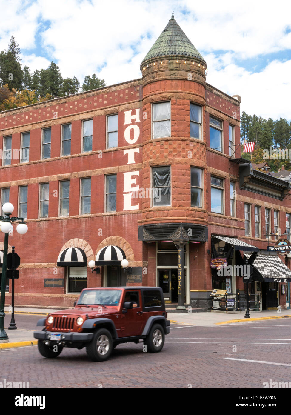 Historic Main Street in Deadwood, South Dakota, USA - Stock Image