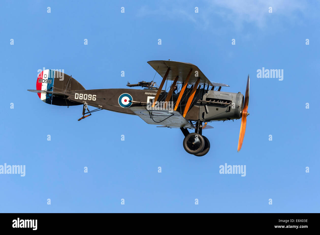 Bristol F2B Fighter classic WW1 fighter bomber  of the RAF - Stock Image