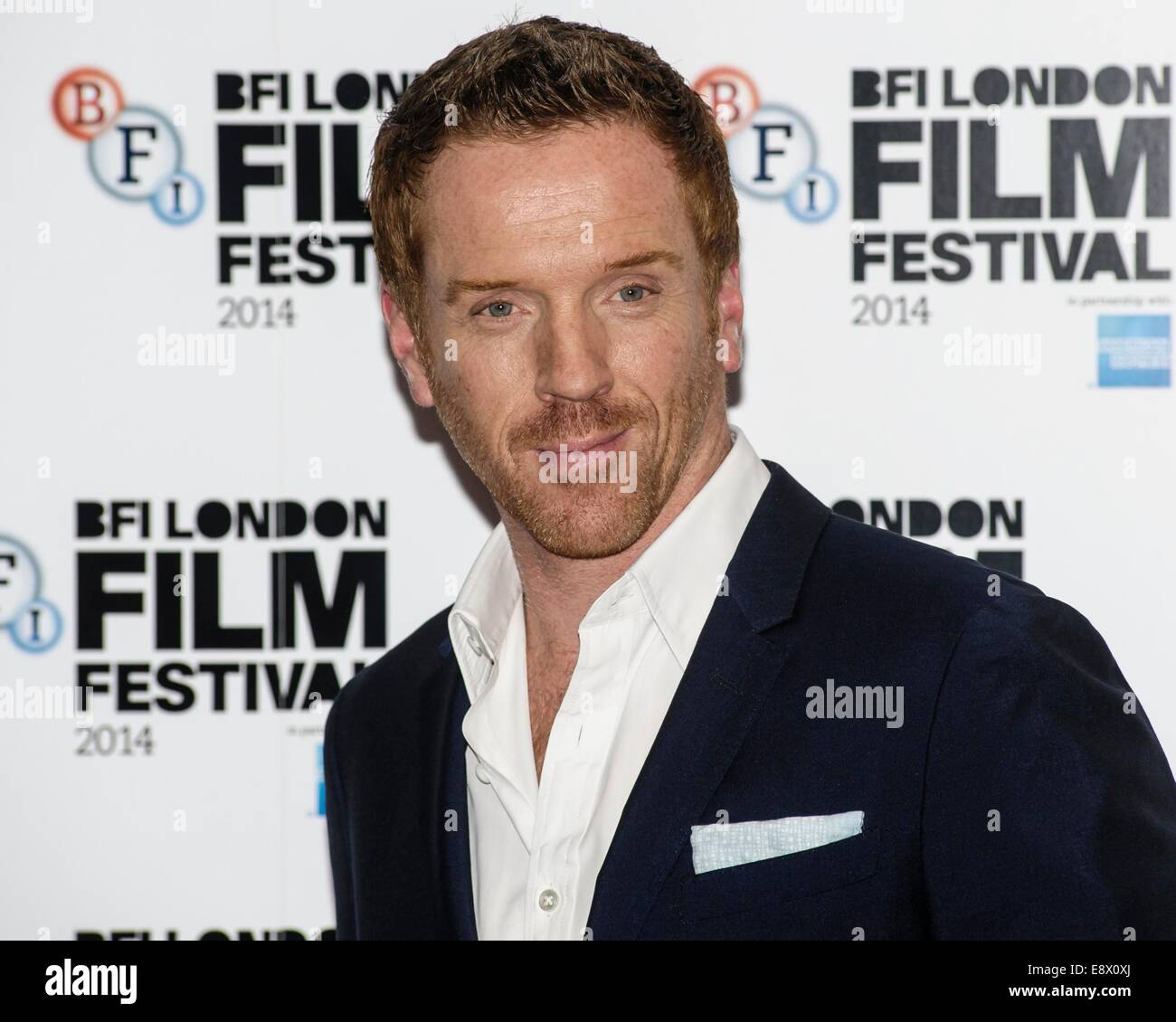 Actor Damian Lewis attends the SILENT STORM WORLD PREMIERE at The BFI London Film Festival on 14/10/2014 at The - Stock Image