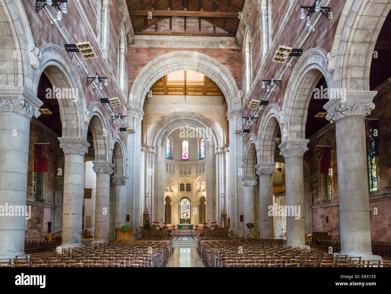 Interior of St Anne's Cathedral, Cathedral Quarter, Belfast, Northern Ireland, UK - Stock Image