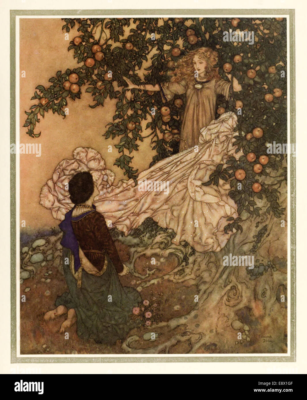 The Garden of Paradise - Edmund Dulac illustration from \'Stories ...