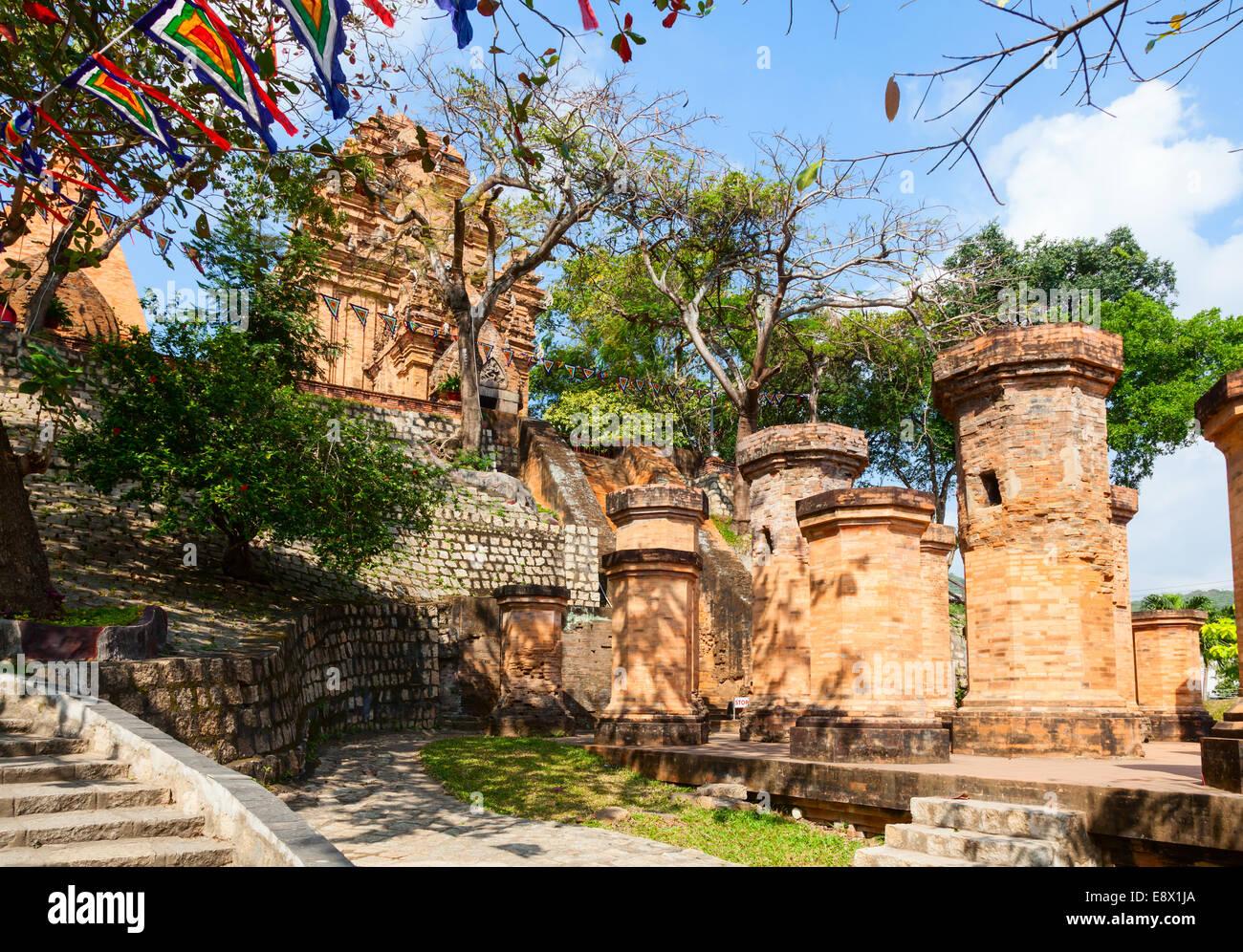 The towers of Po Nagar near Nha Trang in Vietnam - Stock Image