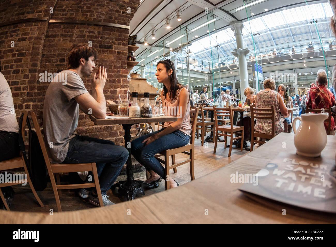 Station Cafe, St Pancras International, London - Stock Image