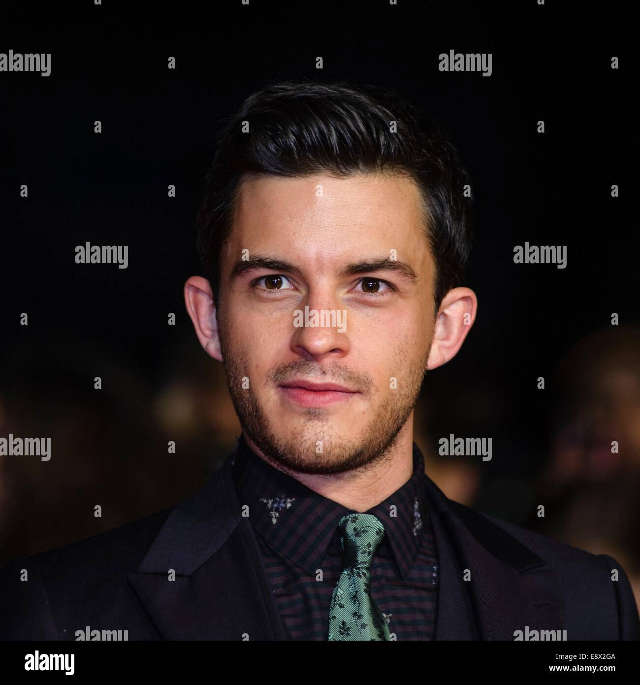 Jonathan Bailey attends the TESTAMENT OF YOUTH WORLD PREMIERE at The BFI London Film Festival centrepiece Gala supported - Stock Image