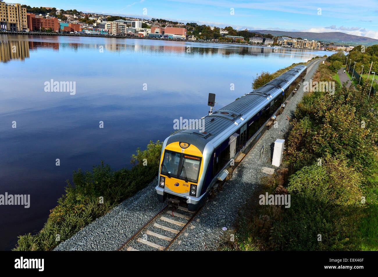 Stock Photo - Translink Northern Ireland Railways diesel train, Derry, Londonderry, Northern Ireland. ©George - Stock Image