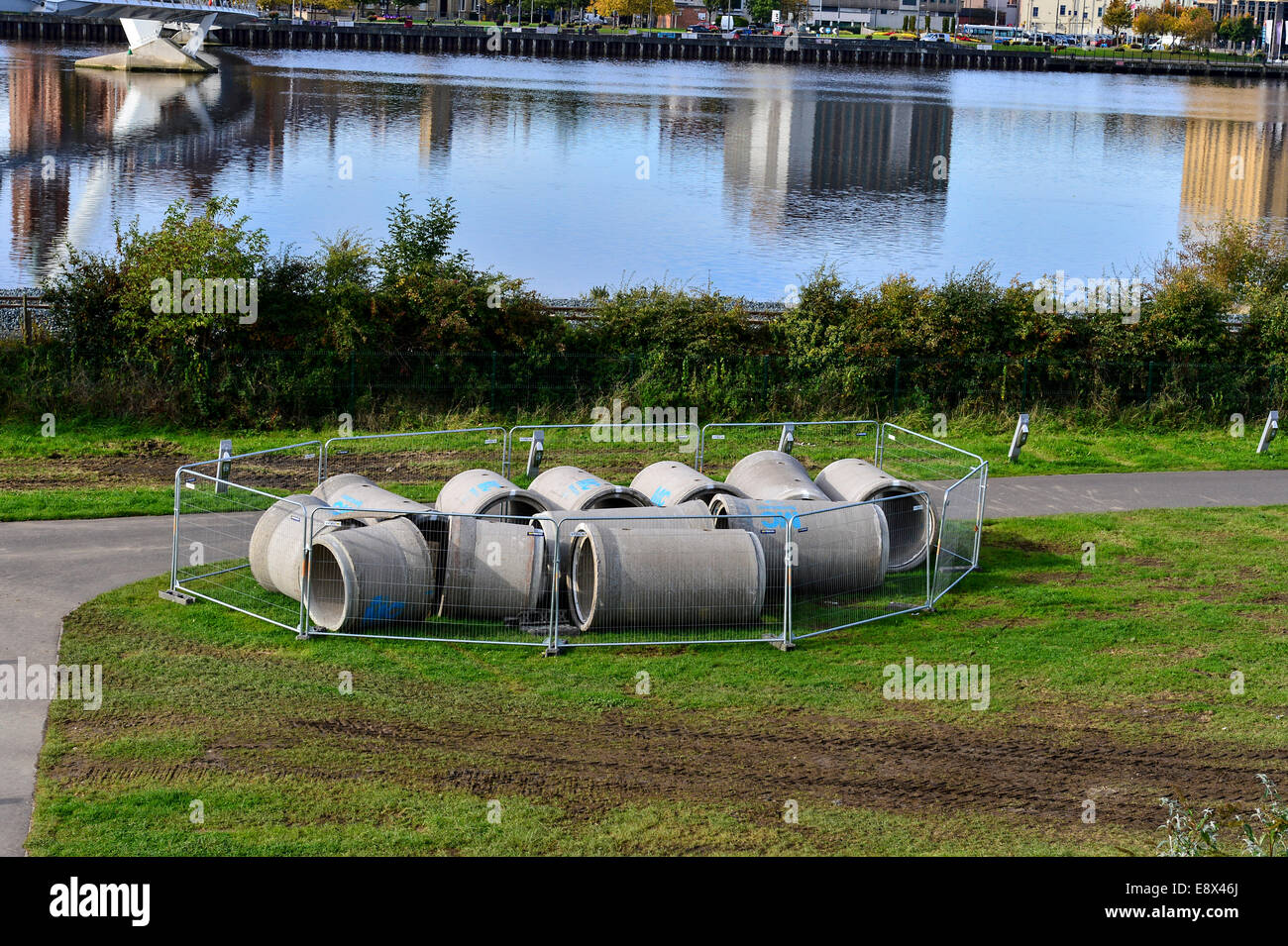 Stock Photo - Concrete sewer pipes. ©George Sweeney /Alamy - Stock Image