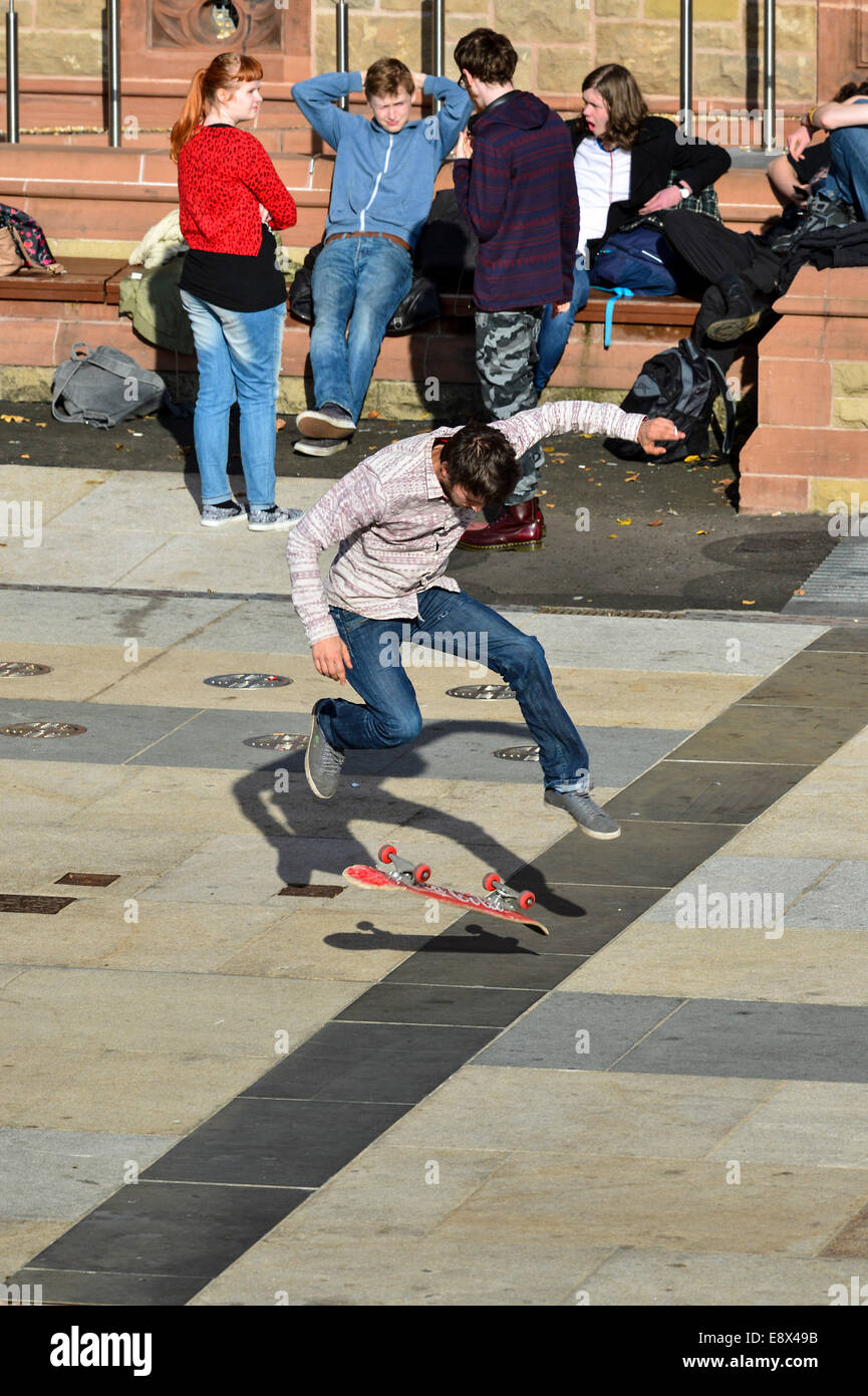 Stock Photo - Youth on skate board outdoors. ©George Sweeney /Alamy - Stock Image