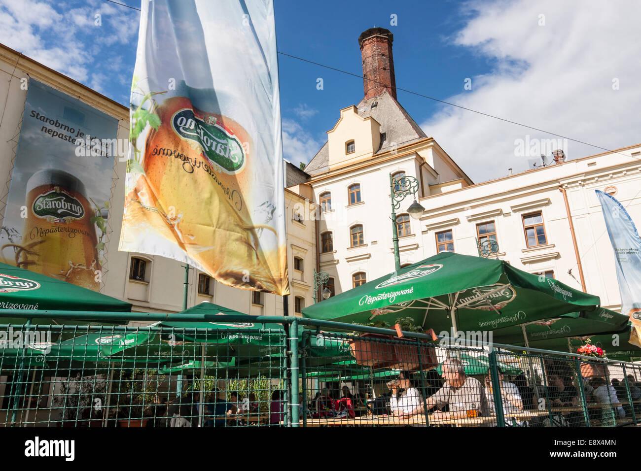 Starobrno former  brewery, now a brewpub in Brno, Czech Republic - Stock Image