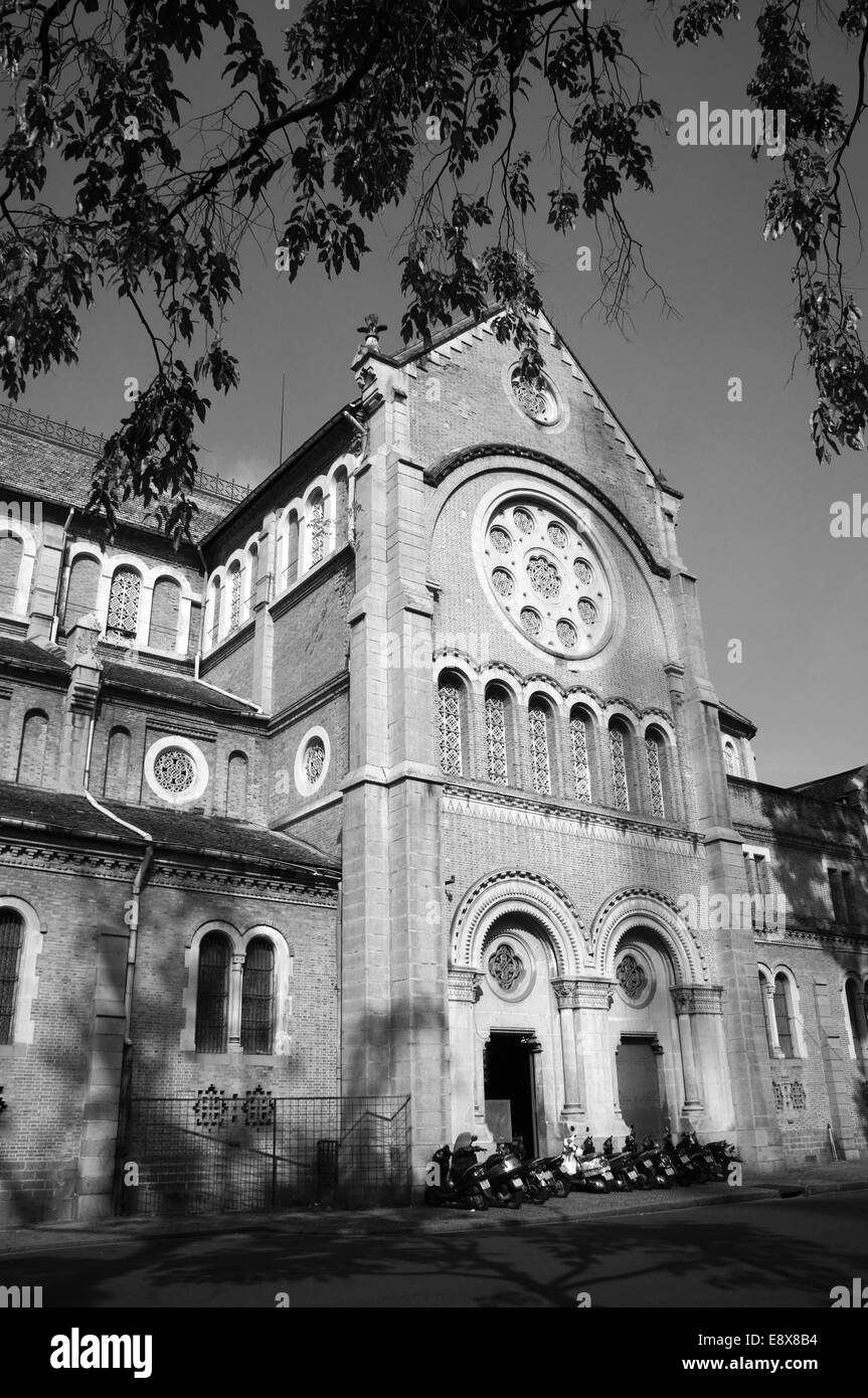 Abtract architecture of Duc Ba Cathedral, French architectual, history place  destination for travel Ho Chi Minh, - Stock Image