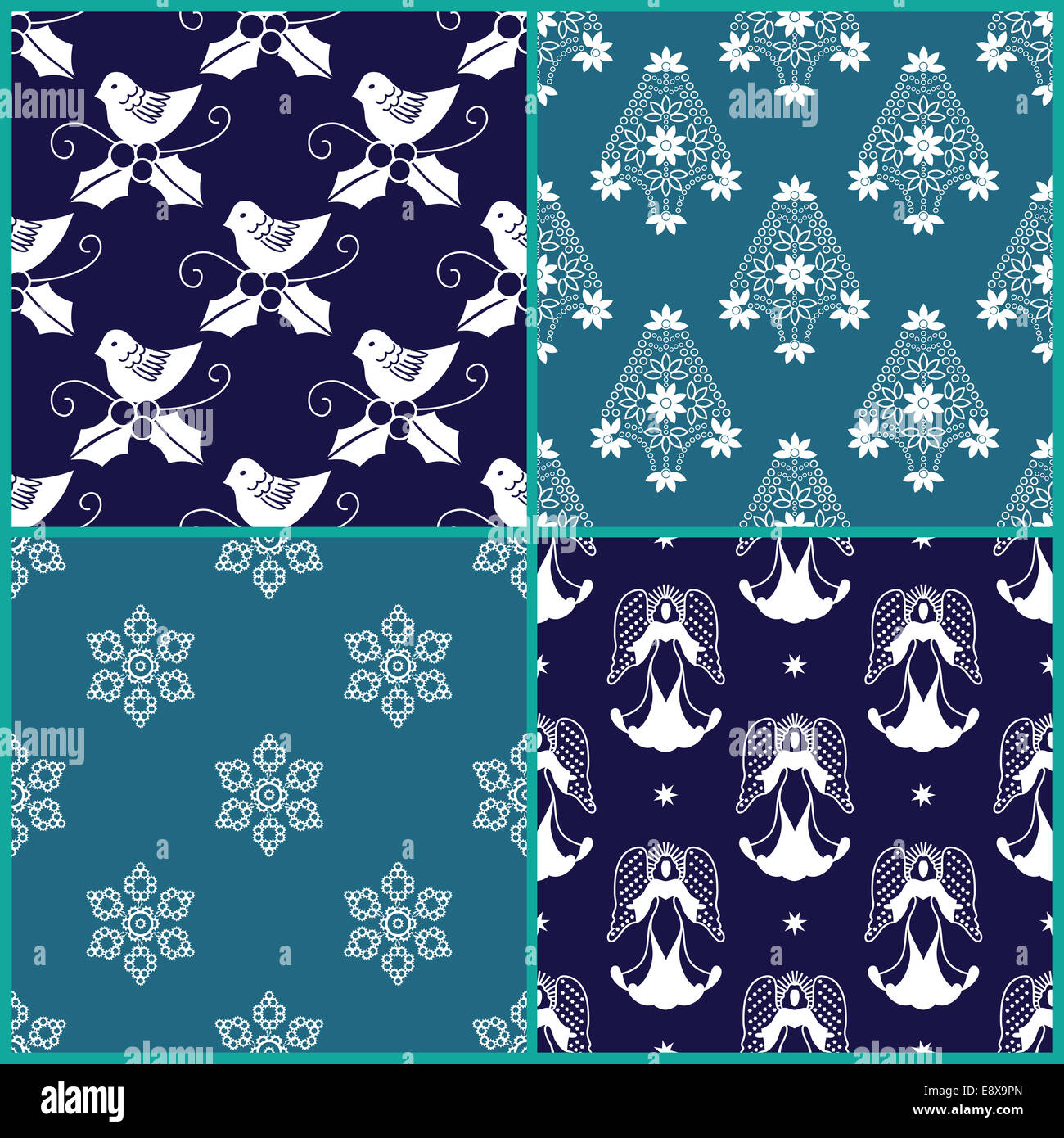 4 christmas gift wrapping paper designs stock photo 74337165 alamy