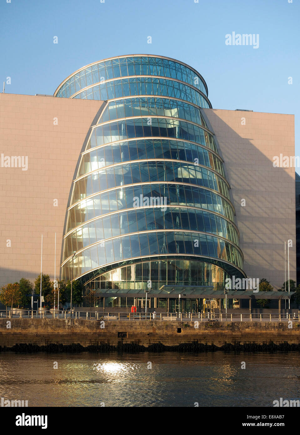 Convention Centre Center in  Docklands Dublin Ireland on River Liffey - Stock Image