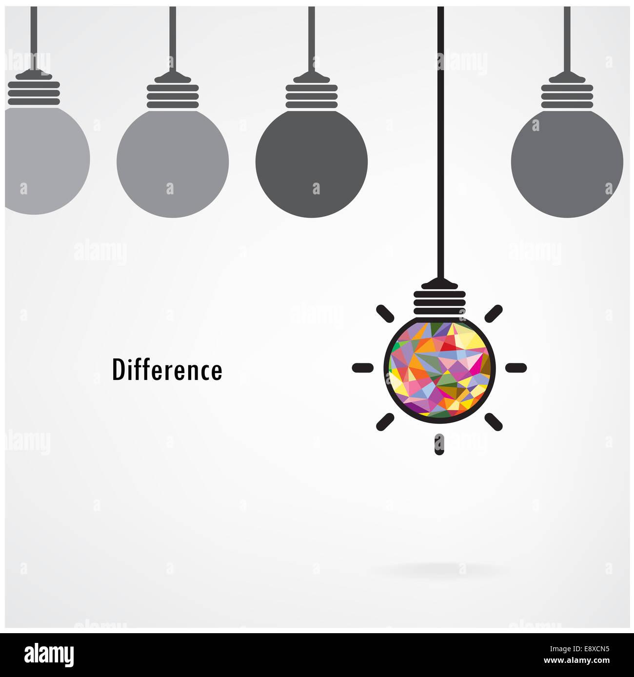 creative light bulb idea concept background design for poster flyer cover brochure business idea education background