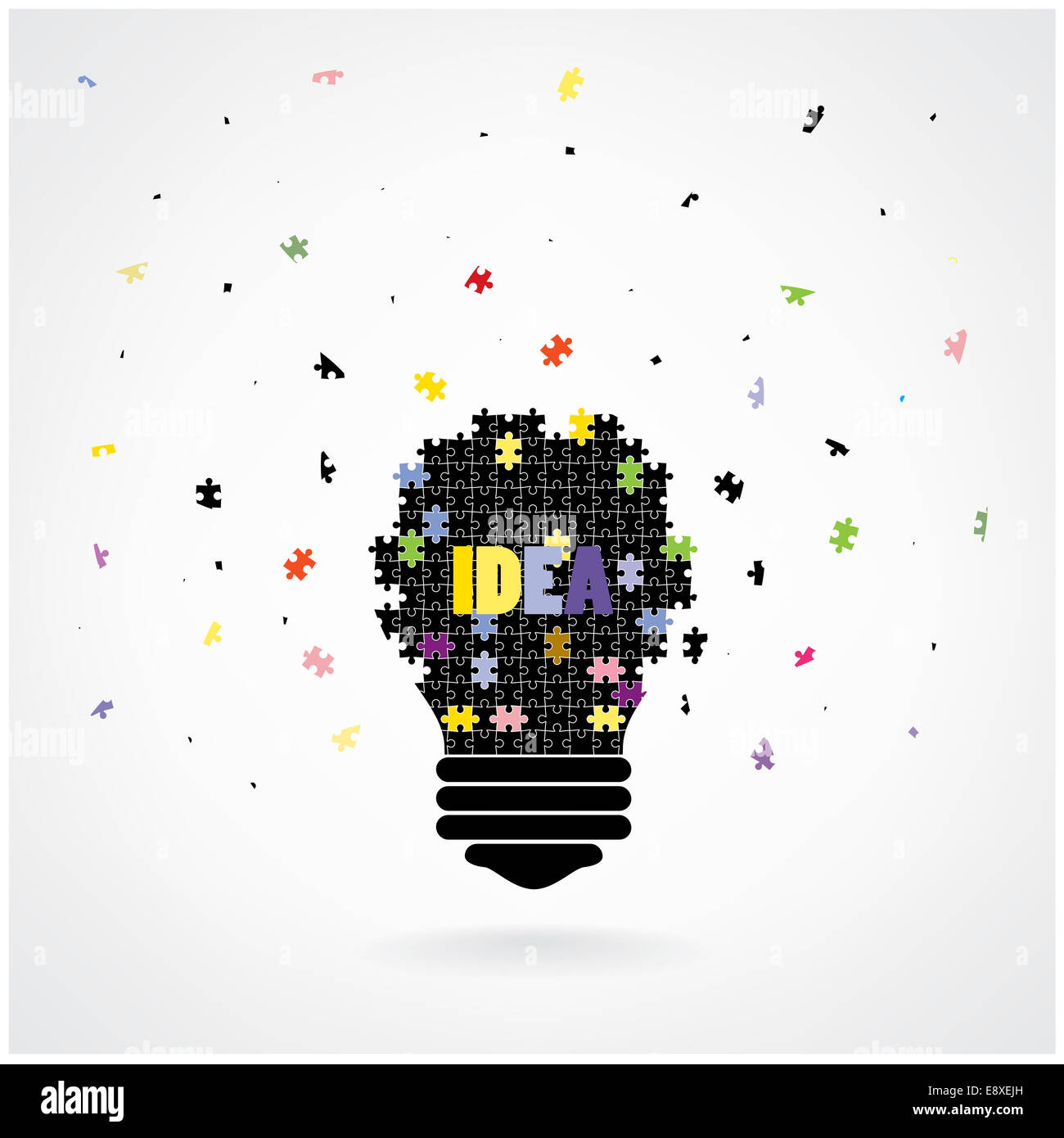 creative puzzle light bulb idea concept background design for poster flyer cover brochure education concept business idea