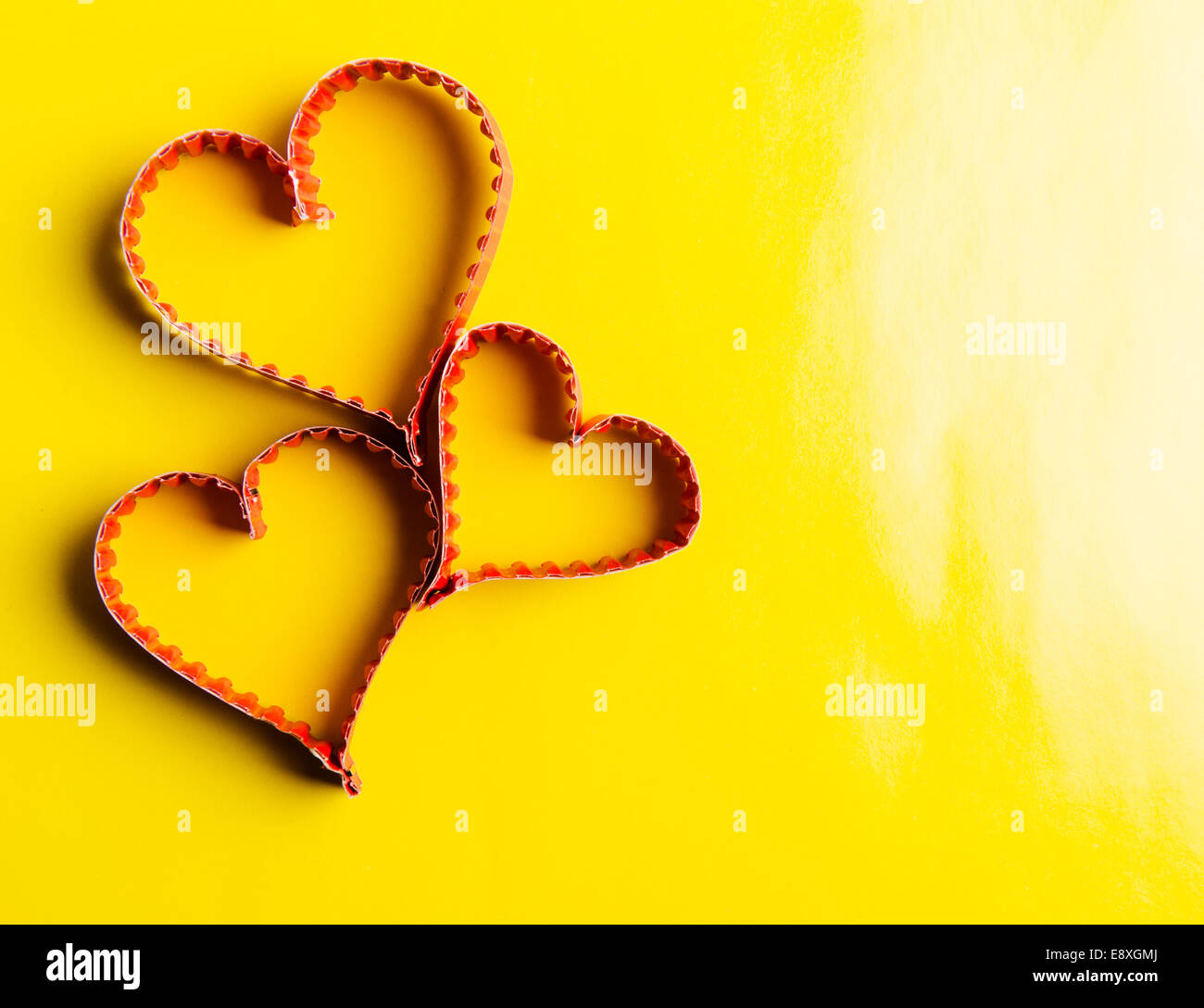 Paper Heart Shape Symbol For Valentines Day With Copy Space For Text