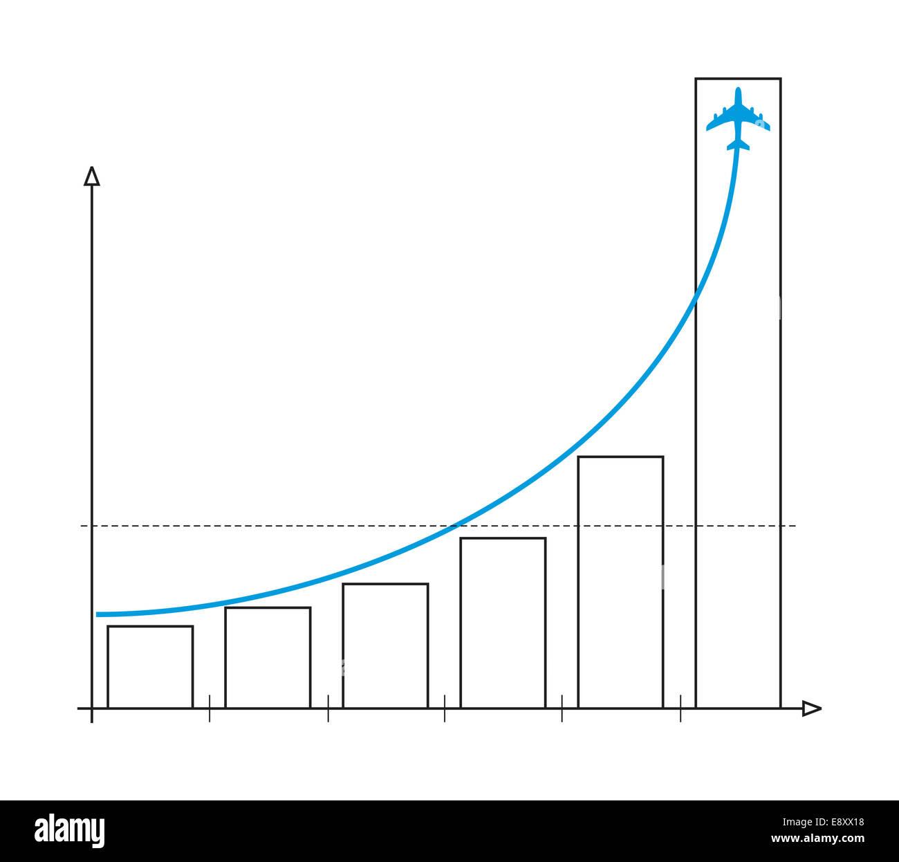 chart plane - Stock Image