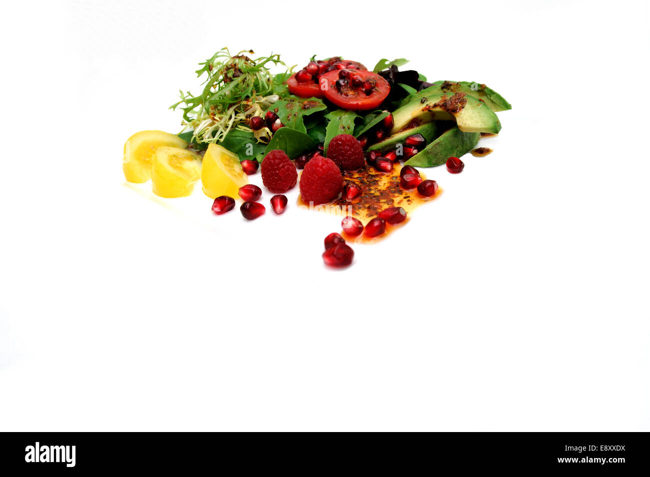 Salad On White - Stock Image